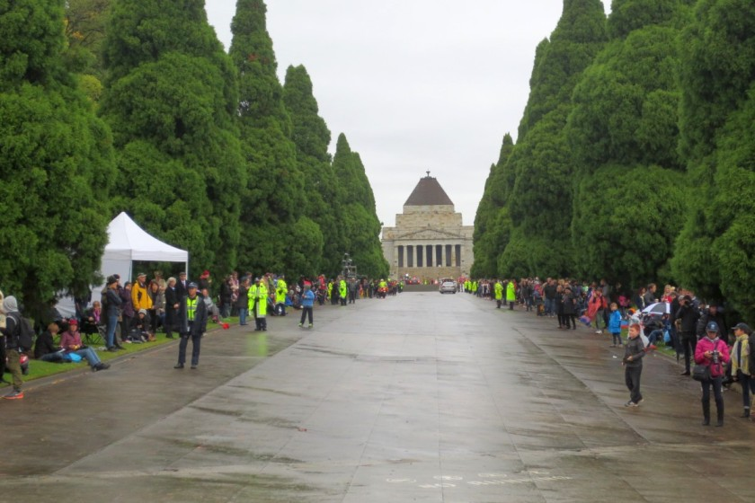 The Shrine of Remembrance in the heart of Melbourne is the end point of the Anzac Parade.
