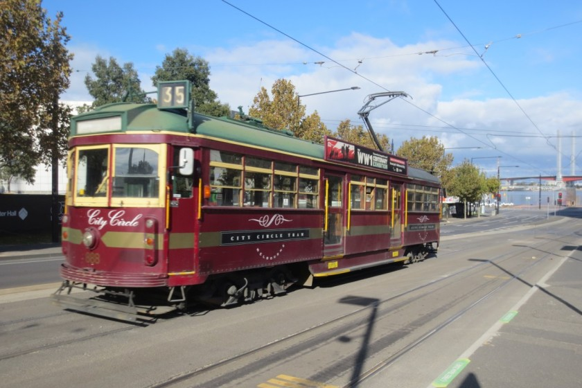 This vintage tram of route 35 will take you all around the city center.