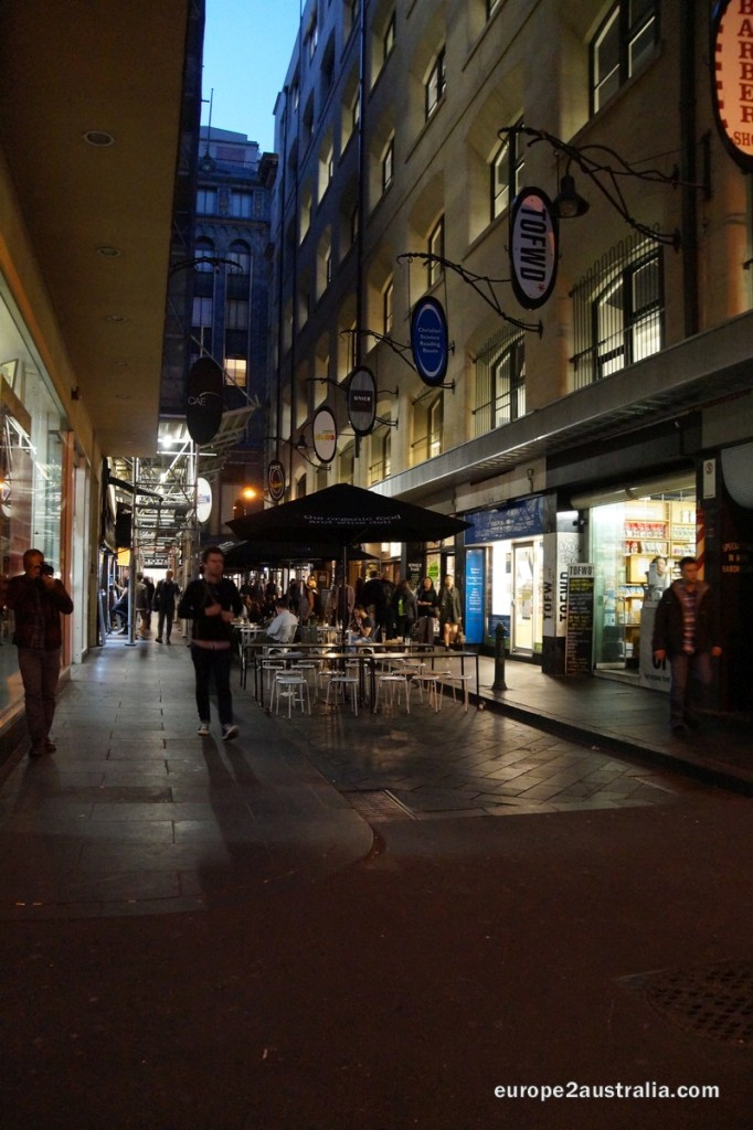 The streets of Melbourne are busy with people heading home or people going out to eat.