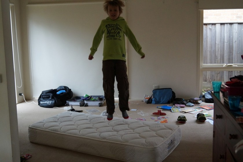 We even have an indoor trampoline well a temporary one anyway