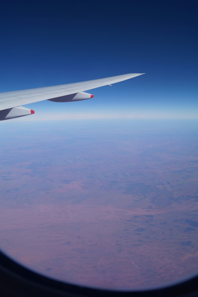 Above the central part of Australia, all you can see is orange and brown.