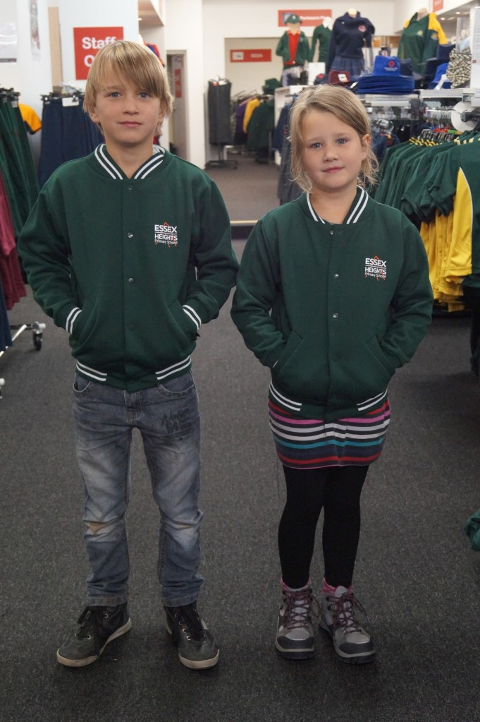 The green bomber jackets are part of the winter school uniforms. And so cool...