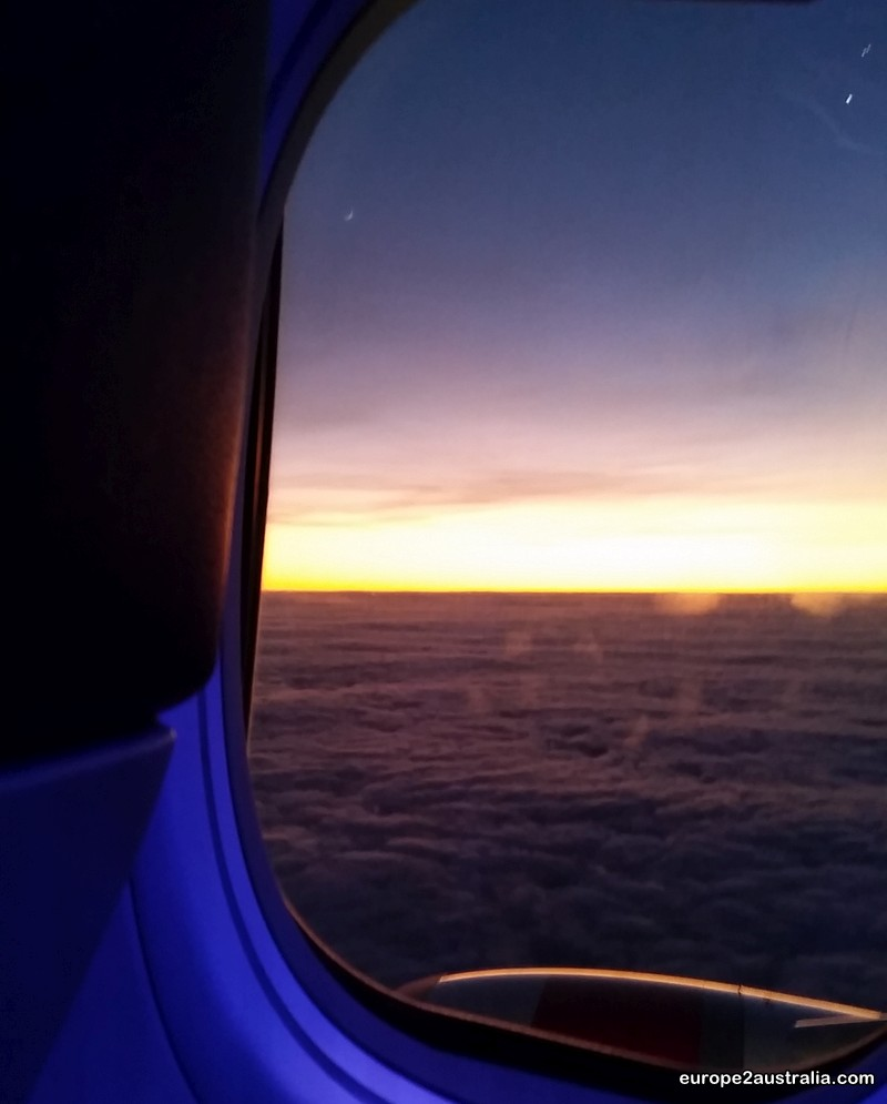 But at least I got some compensation for the excitement in the night: a spectacular sunrise above the clouds.