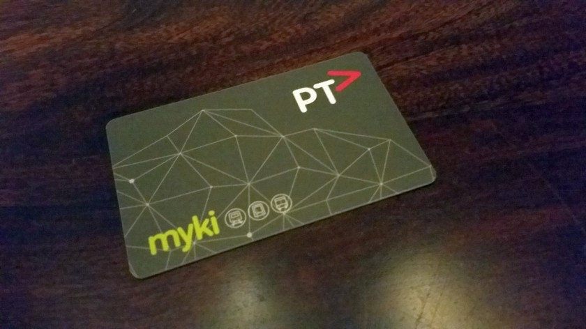 The myki pass. This one cost me about AU%1,500.- and is valid for an entire year.
