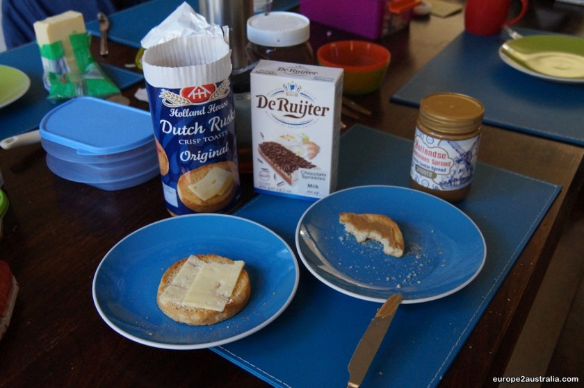 A taste from home: Dutch breakfast.