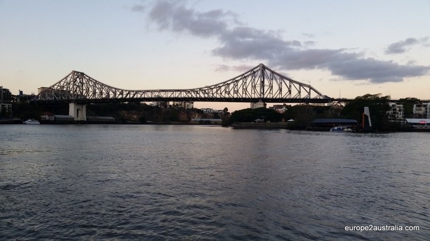 Story Bridge is one of several spanning the river, but certainly one of the most impressive.