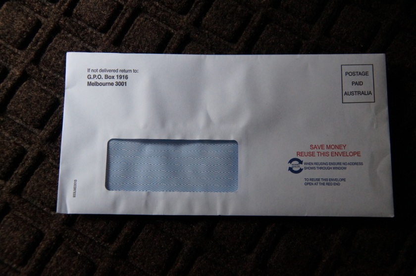 This is the envelop you do not want to receive