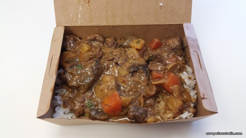 Stew on rice. Another yummy choice.