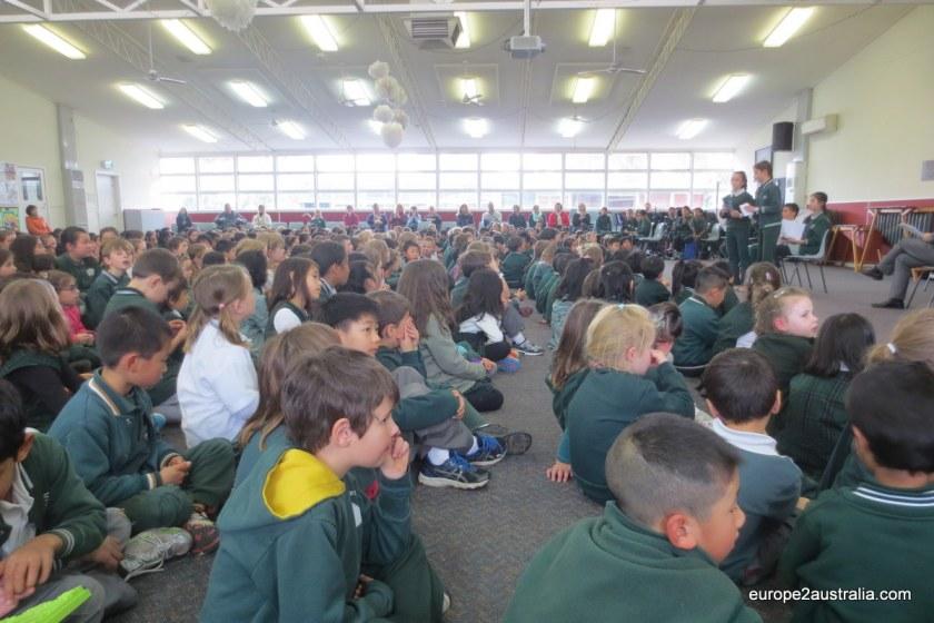 School assembly Australia