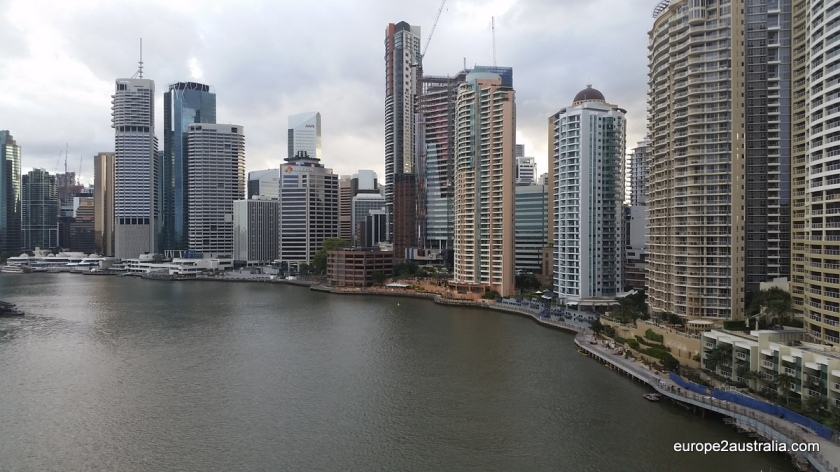 View of the central district and waterfront from Story Bridge.