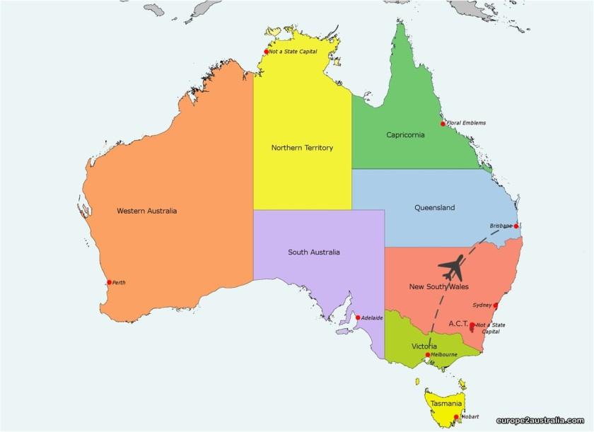 Map Melbourne - Australia