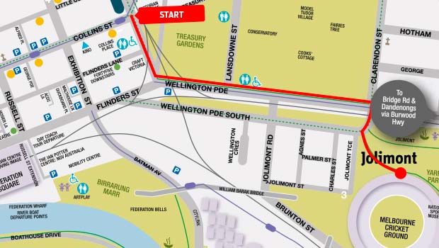 Taken from the AFL website: The route of the Grand Finals Parade.