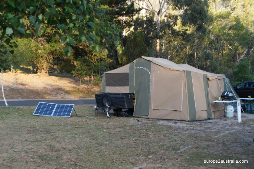 The fold out tent