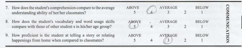 school evaluation