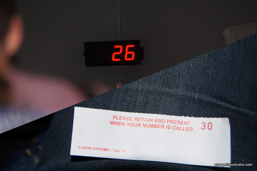 And in true Dutch style, you got to take a number when you ordered.