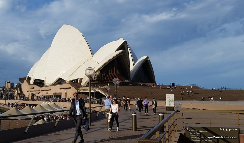 Probably Sydney's most famous building: the opera house.