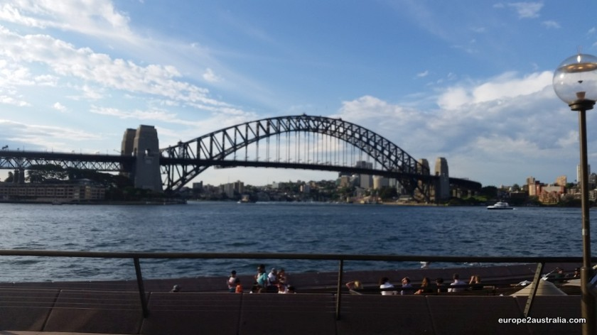 Harbour Bridge as seen from the Opera House.