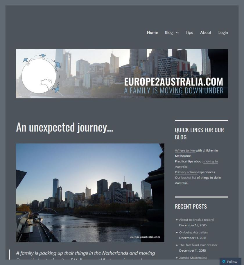 And our new homepage.