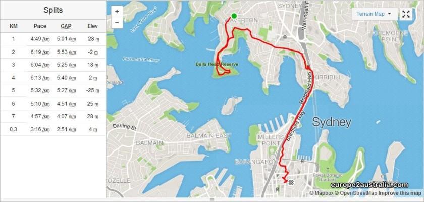 Image and route via strava.com.