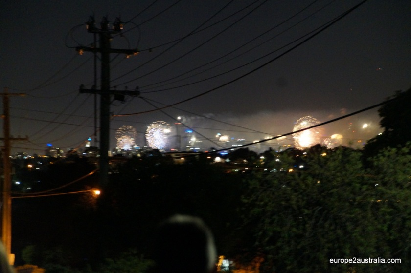 There was a 10-minute firework show above CBD. But it was far, far away.