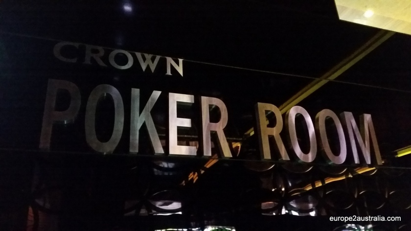 The Poker Room is in the basement, giving it a bit of a tight feel.