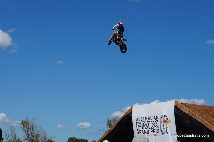The Australian FMX Grand Prix was held at the site as well. Quite the daredevils on their motorbikes.