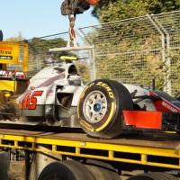 F1 crash in Melbourne