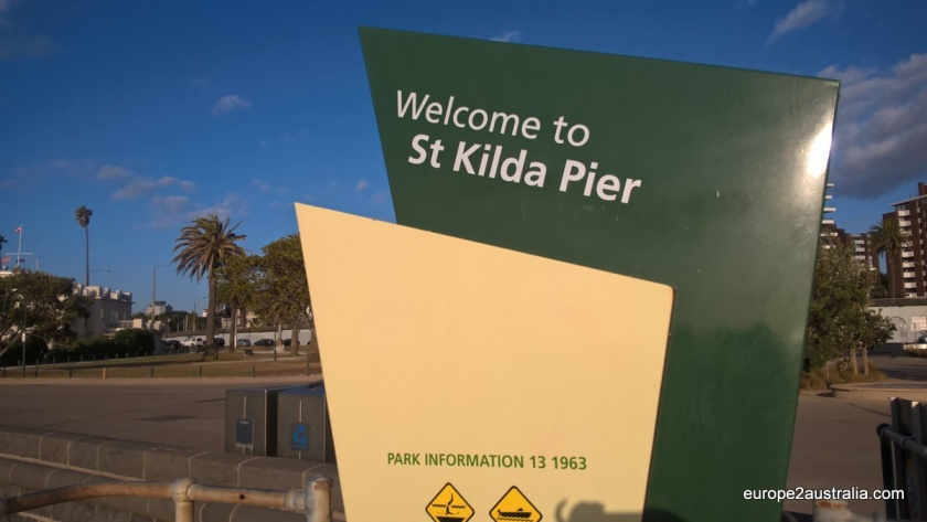 St. Kilda Pier is located at the northern end of St. Kilda beach.