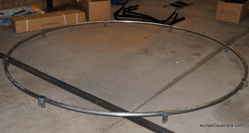The first step is to assemble the 10-foot ring.