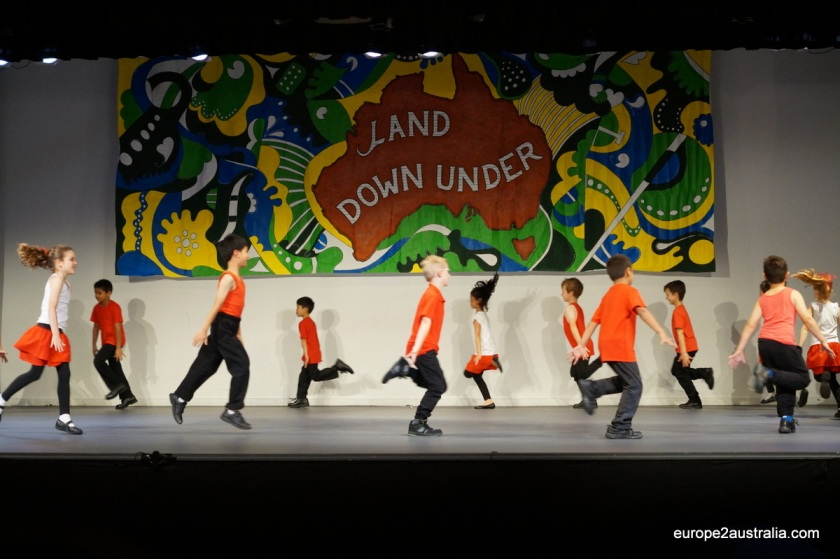 The older students added some more choreography to the performance.