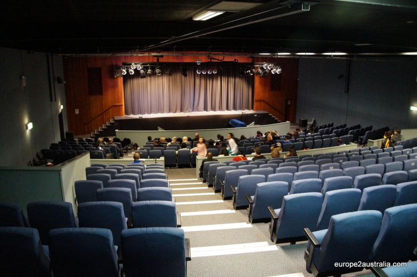 The auditorium held about 400 people and the tickets for both nights were all sold out.