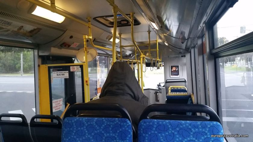The bus is usually pretty empty anyway.
