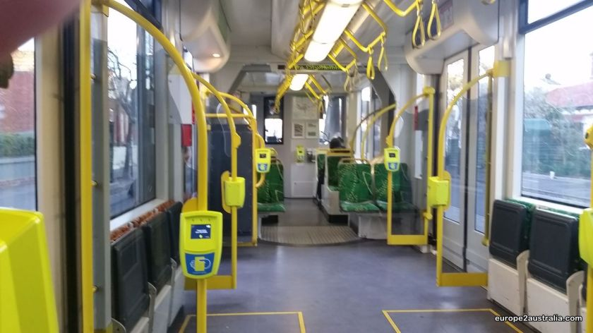 It's the beginning of the tram line, so there's always plenty of seats.
