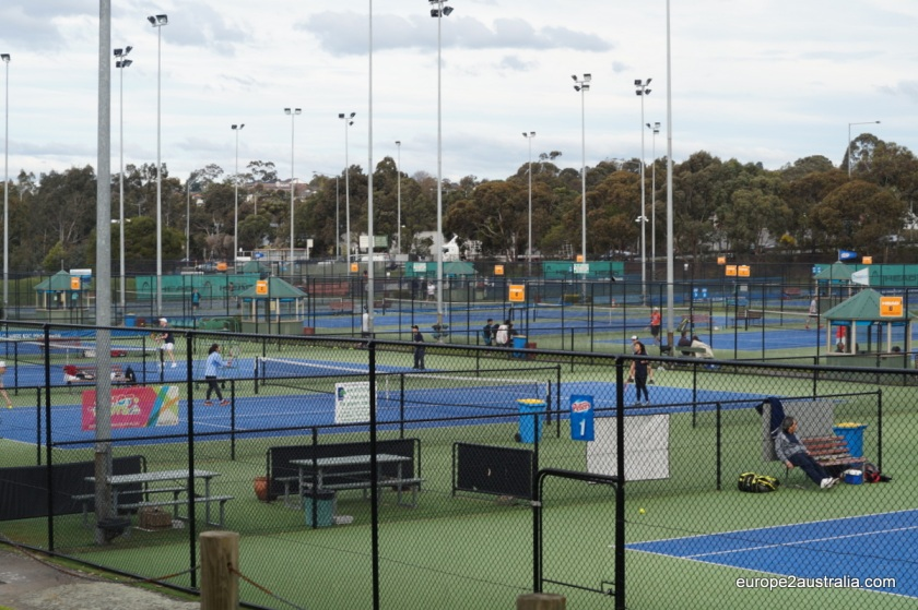 Boroondara Tennis Centre is one of the larger venues, with 23 courts and three different surfaces available.