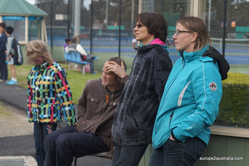 Full concentration during matchplay, especially from the watching parents.