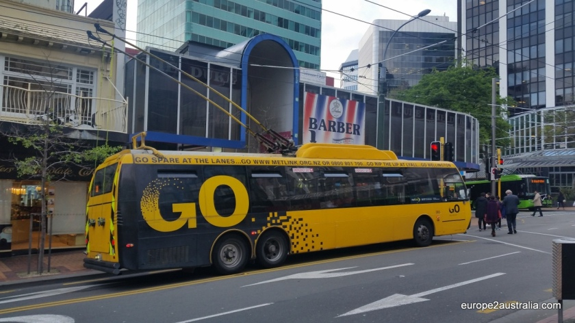 Getting around the city, you can use one of the electrical buses.