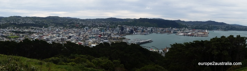 The view from the top of Mt Victoria gives a great impression of the city below.