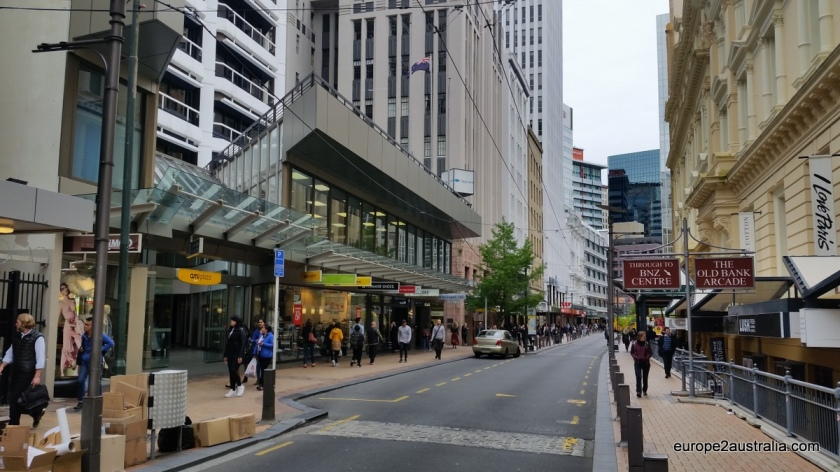 Wellington has a fairly large shopping district, including a few pedestrian zones.