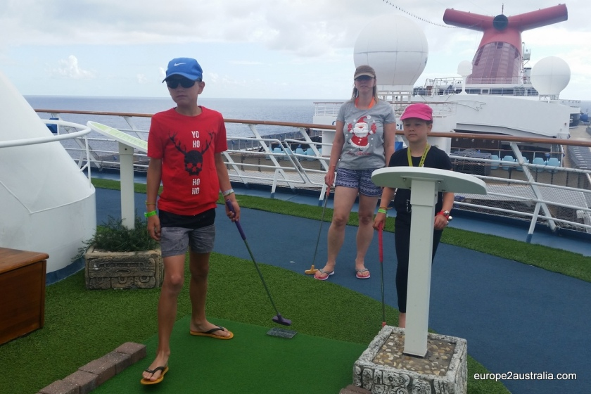 Starting Christmas day with a round of mini golf is typically not what you'd expect.