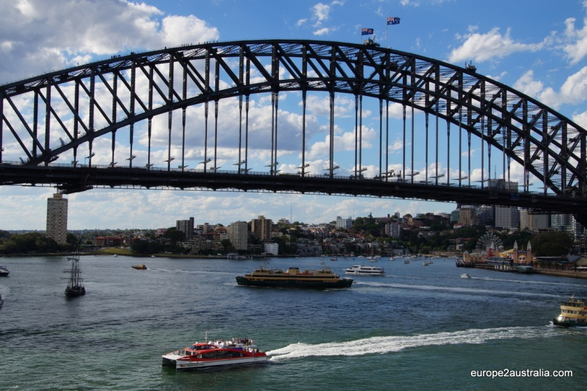 Sydney harbour is a very busy place.