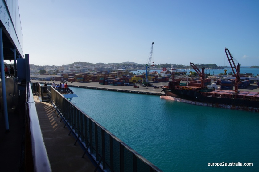 On arrival in Noumea we docked at the container terminal.