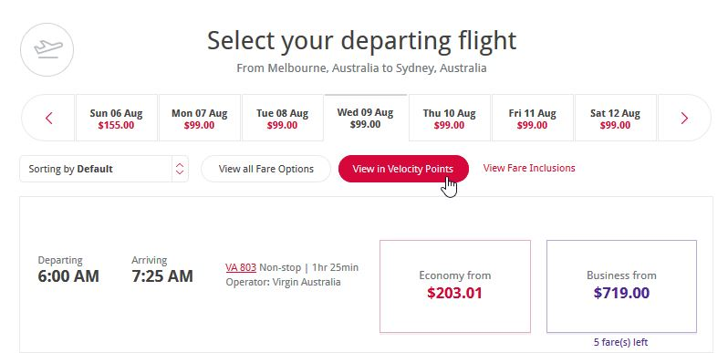 Select Flights _ Make Booking _ Virgin Australia