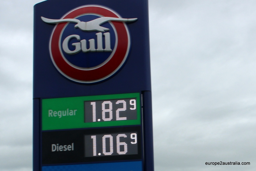 Fuel is expensive in New Zealand.