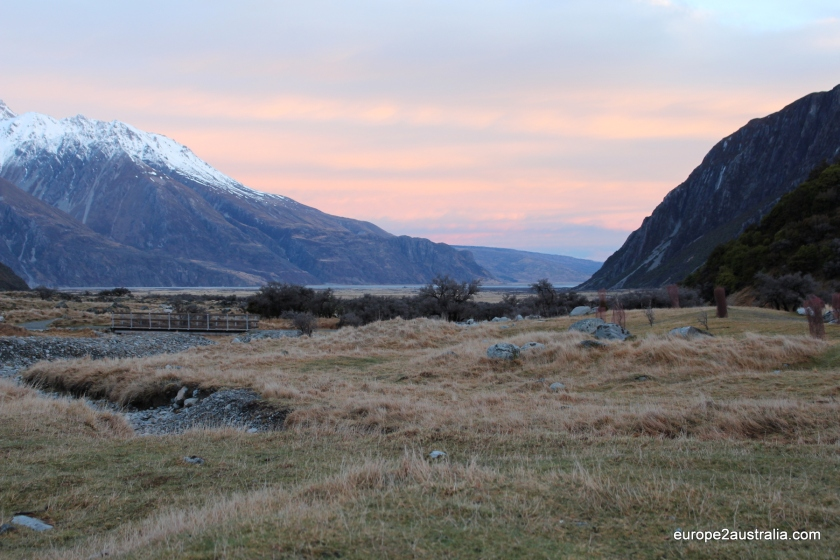 Sunset in the Hooker Valley.