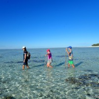 Walking on the Great Barrier Reef